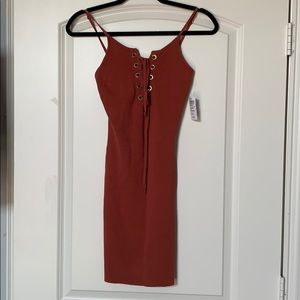 Windsor Lace Up Body-con Dress